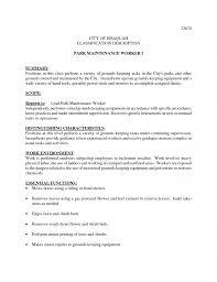 100 Maintenance Resume Objective Statement Resume Sales