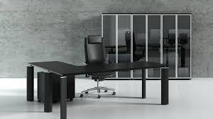 L Shaped Modern Desk Black Stark Modern L Shaped Desk Ambience Dorc