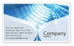 Office Building Hall Business Card Template Layout Download Office