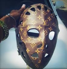 louis vuitton jason mask. custom ice hockey mask - louis vuitton style jason hockeygods