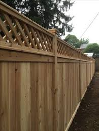 fence styles.  Styles Red Cedar Privacy Fence With A Diagonal Lattice Topper Inside Styles E