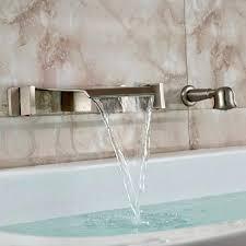 wall mount roman tub faucet waterfall moen