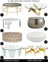 Styling A Round Coffee Table My Picks 8 Chic Round Coffee Tables The Decorista