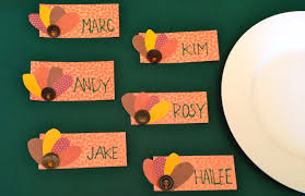 thanksgiving turkey place cards to diy