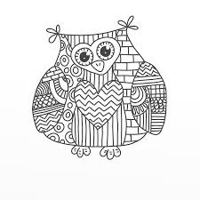 Paisley Owl Coloring Pages Printable Coloring