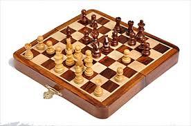 folding wooden magnetic travel chess set 7 house of staunton