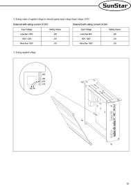 Setting values input voltage setting values less than 100v j20 less than 90v j20 100v