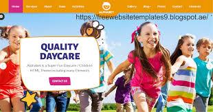 Free Downloads Web Templates Alphabet Daycare School Html5 Free Html Templates