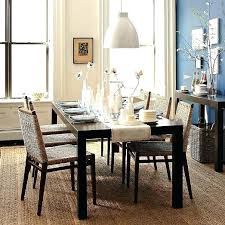 west elm dining parsons room table chairs bench