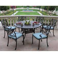 round outdoor dining sets. Kingston Cast Aluminum 7 Piece Set With Round Table Round Outdoor Dining Sets T