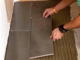 Bathroom Tile Floor How To Install A Plank Tile Floor How Tos Diy