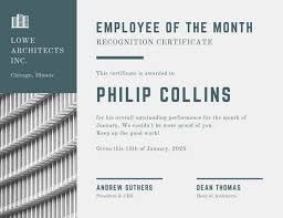 Free Employee Of The Month Certificate Template New Customize 485480 Employee Of The Month Certificate Templates Online