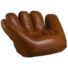 large leather baseball glove sofa for poltronova s for sale