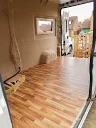 best inspiration rv camper van remodel interior with floors wooden van conversion installing vinyl flooring