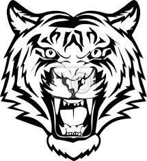 Plakát Ilustrace Hlava A Výraz Tvář Tygra Pro Tetování Design