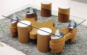 most seen images in the sophisticated coffee table with ottomans underneath gallery