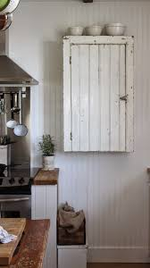 Rustic Wall Cabinet A Chippy Painted Vintage Cupboard Is Modified