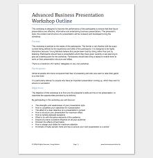 Presentation Outline Template 19 Formats For Ppt Word Pdf