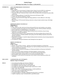 Mechanical Engineering Design Technologist Jobs Design Technician Resume Samples Velvet Jobs