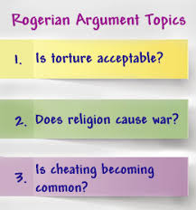 good rogerian argument topic ideas