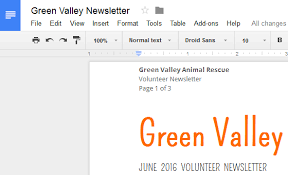 Text Document Google Docs Headers Footers And Page Breaks