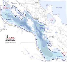 Grand Lake Map Presque Isle County Michigan Fishing Michigan
