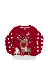 Light Up Christmas Sweater Kids Clothing At Tesco F F Light Up Reindeer Christmas Jumper