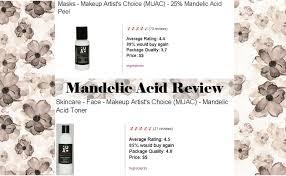 mandelic acid toner makeup artist choice