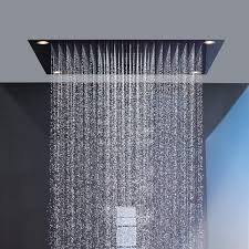 Recessed ceiling shower head / square / rain / with built-in light -  SHOWERCOLLECTION: 10623800 by Philippe Starck