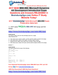 Design Patterns Exam Questions And Answers 2017 Braindump2go Latest Mb6 890 Vce Dumps 98q Share 59 66