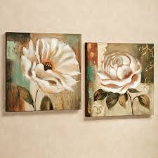 garden delicacies floral canvas wall art cream set of two oil painting flowers rectangular wallpaper elegant on white floral canvas wall art with wall art best pictures flower canvas wall art canvas flower art