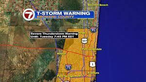 BREAKING: Severe Thunderstorm Warning ...