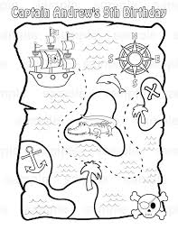 Design A Treasure Map Activity Personalized Printable Pirate Treasure Map Birthday Party