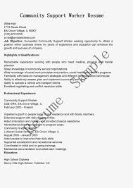 Community Worker Resume Free Resume Example And Writing Download