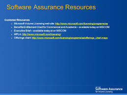 Sa Benefits Chart Software Assurance 2006 New And Enhanced Benefits Extend