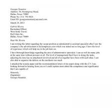 examples of administrative cover letters cover letter for resume administrative assistant