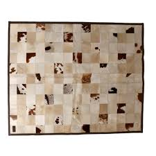 zulucow ni patchwork cowhide rug brown cream and white home decor home interiors