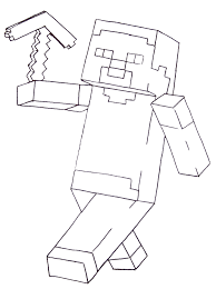 Small Picture Minecraft Coloring Pages Of Steve esonme