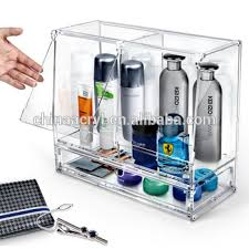 clear diy makeup organizer with drawers storage of acrylic cosmetic skin care display stand