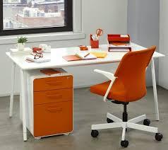 orange office furniture. an orange desk setup makes me smile workhappy office furniture