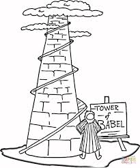 Small Picture Tower of Babel coloring page Free Printable Coloring Pages