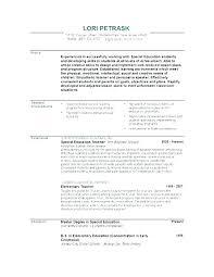 Education Resume Template Custom Resume Of Teacher Sample Teacher Resume Examples Language Arts