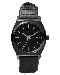 new nixon men 039 s the time teller leather watch mens wristwatch new nixon men 039 s the time teller