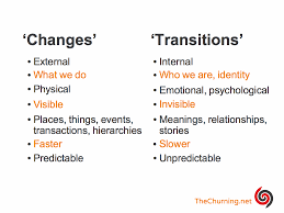 Why Transitions Matter More Than Changes The Churning