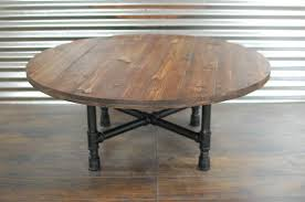 Industrial Round Wood Coffee Table With Pipe Legs Wood Coffee Table Wood Furniture Round Table Industrial Pipe Rustic Table Wood Table