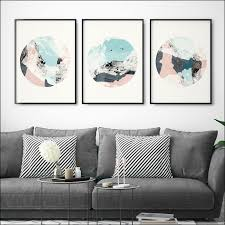 prissy ideas set of 3 wall art best prints abstract minimalist large arrow canvas framed