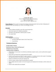 Employment Objectives Simple Resume Examples Templates Free Sample