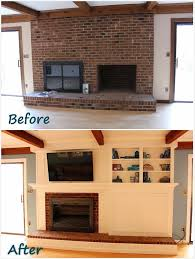 the finale to building a fireplace facade covering the brick adding shelves a
