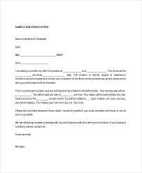 Job Offer Letter Template Doc Employment Appointment Letter Template