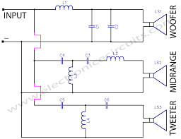 crossover network electronic circuits tweeter wiring diagram 3 way crossover network circuit diagram Tweeter Wiring Diagram